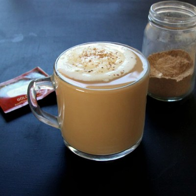 Vanilla Maca Dirty Chai Latte