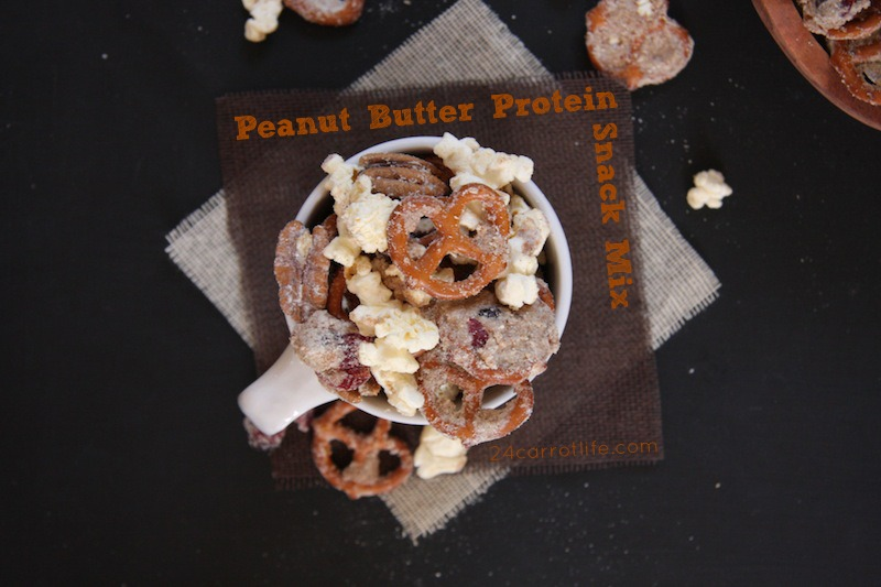 Peanut Butter Protein Snack Mix I 24 Carrot Life