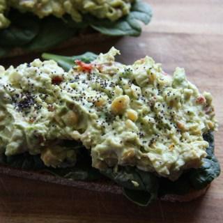 Chickpea & Avocado Open-Faced Sandwiches