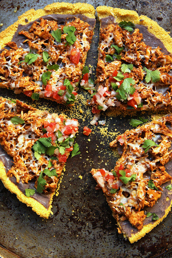 Healthy Chicken Tamale Pizza
