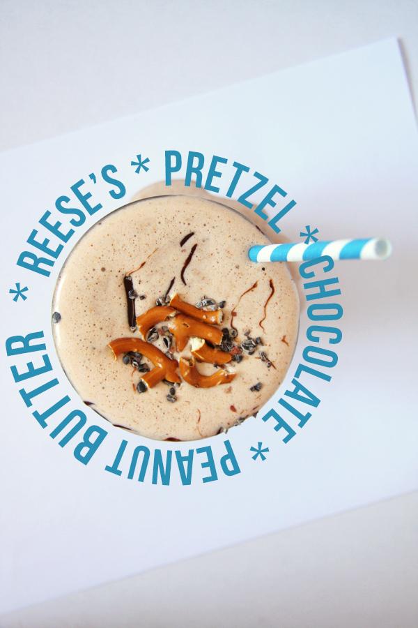 Healthy Reese's Pretzel Protein Smoothie I 24 Carrot Life