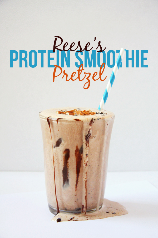 Healthy Reese's Pretzel Protein Smoothie I 24 Carrot Life
