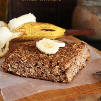 Banana Carob Baked Oatmeal