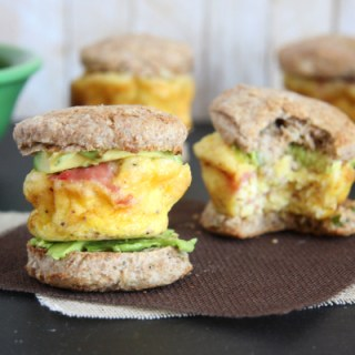 Mini Egg Sandwiches with Whole Wheat Biscuits