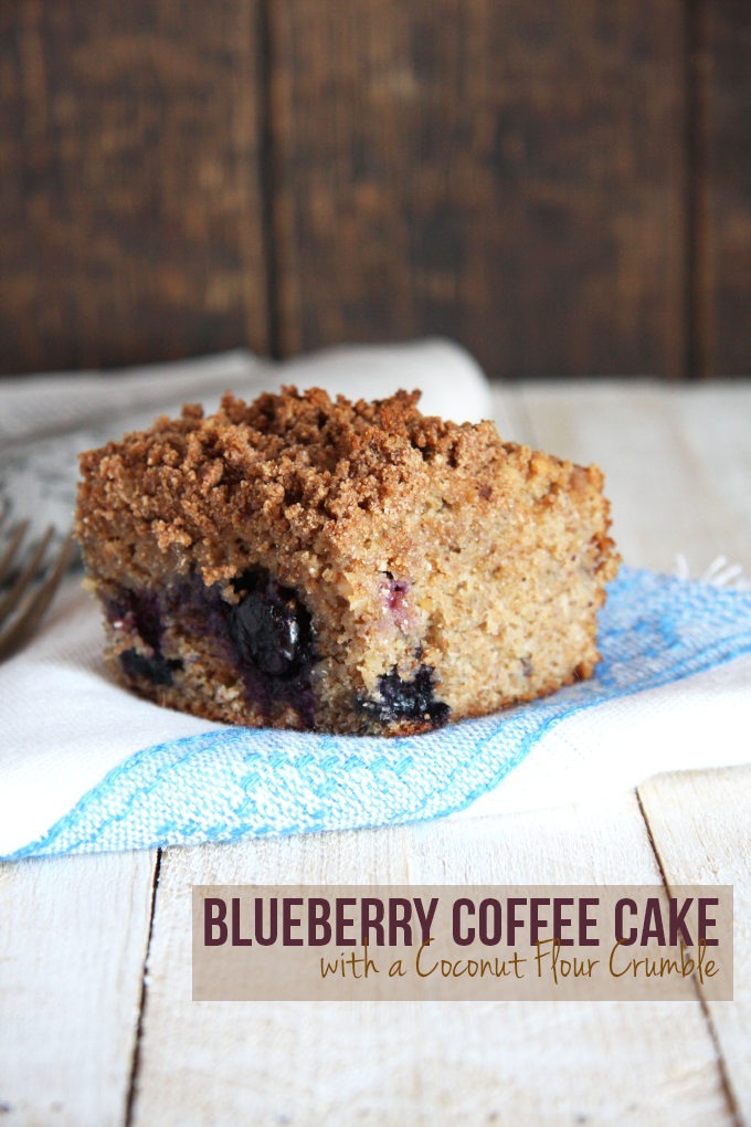 Blueberry Coffee Cake with Coconut Flour Crumble // 24 Carrot Life