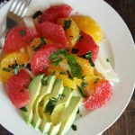 http://24carrotlife.com/2014/04/11/spring-citrus-salad-honey-mint-vinaigrette-fiesta-fridays/