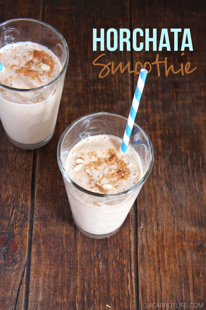 Horchata Smoothie // 24 Carrot Life #mexican #horchata #vegan #sugarfree