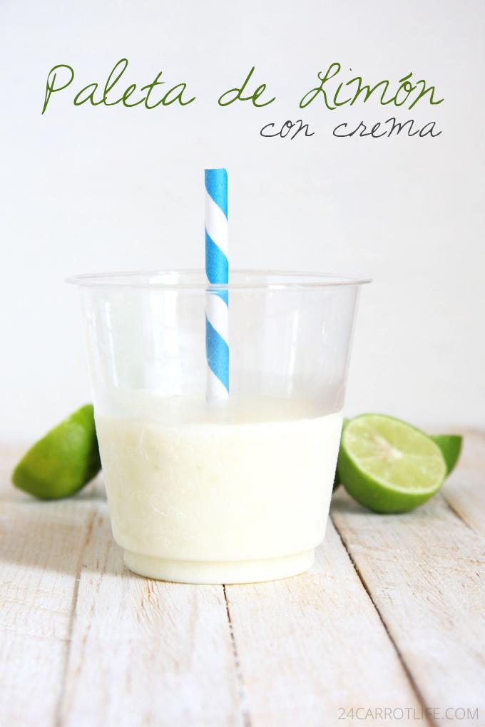 Paleta de Limón con Crema (Lime Creamsicle) // 24 Carrot Life