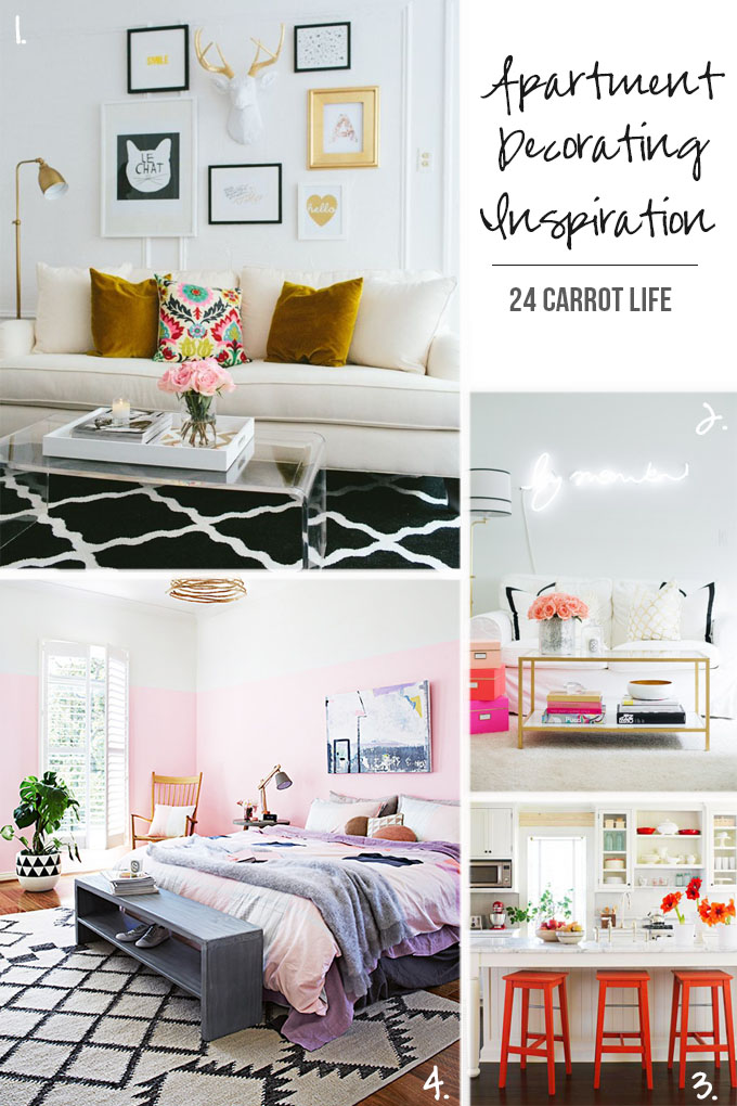 Apartment Decorating Inspiration - 24 Carrot Life