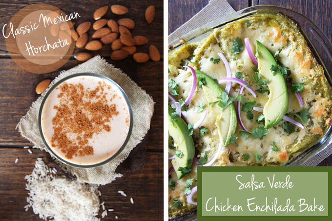 Fiest Fridays Horchata & Enchilada Bake // 24 Carrot Life #mexican #healthy
