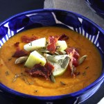 Butternut Squash Soup with Bacon Croutons