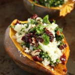 Cauliflower Rice Stuffed Acorn Squash // 24 Carrot Life #paleo #healthy #glutenfree #grainfree