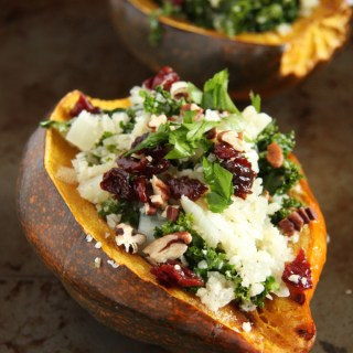 Cauliflower Rice Stuffed Acorn Squash