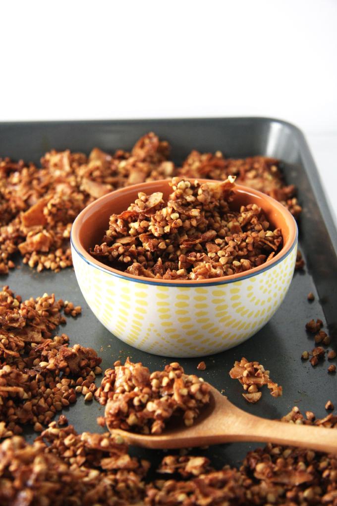 Coconut Buckwheat Granola // 24 Carrot Life #paleo #vegan #glutenfree #grainfree