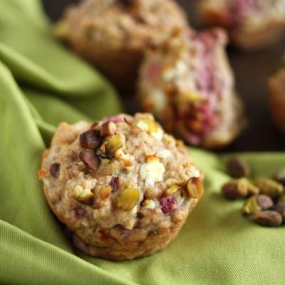 Raspberry Goat Cheese Savory Muffins