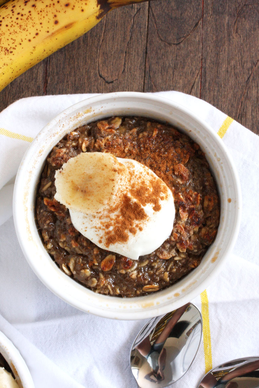Banana Oatmeal Brulee // 24 Carrot Life #oats #healthy #glutenfree #vegan