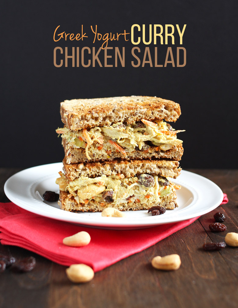 Greek Yogurt Curry Chicken Salad // 24 Carrot Life #greekyogurt #healthy #chicken #curry @24carrotlife