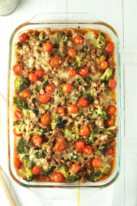 Sausage Polenta Bake // @24carrotlife #JoinTheTable @colavitaevoo