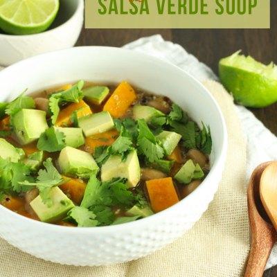 Crockpot Veggie & Quinoa Salsa Verde Soup