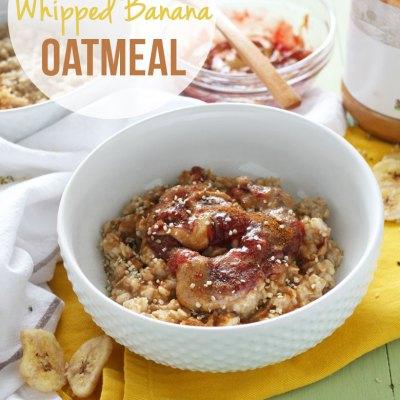 PB & J Whipped Banana Oatmeal