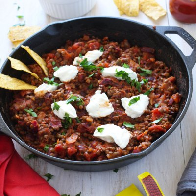 Game Day Lentil Taco Dip