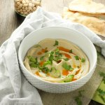 The Smoothest Crockpot Hummus