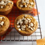 Flourless Maple Almond Sweet Potato Muffins // These flourless and gluten free muffins are made with just a free ingredients that can be whirled up in a blender for a healthy on-the-go breakfast, snack or treat that is healthy and low in sugar. 24 Carrot Life #sponsored #fall #flourless #glutenfree