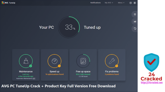 AVG PC TuneUp Crack + Product Key Full Version Free Download