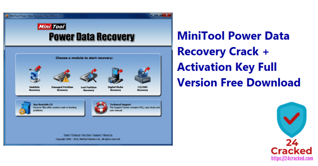 MiniTool Power Data Recovery Crack + Activation Key Full Version Free Download