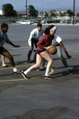 LEIGH CHAPMAN Basketball Game Original Slide Transparency MAN FROM UNCLE gp6