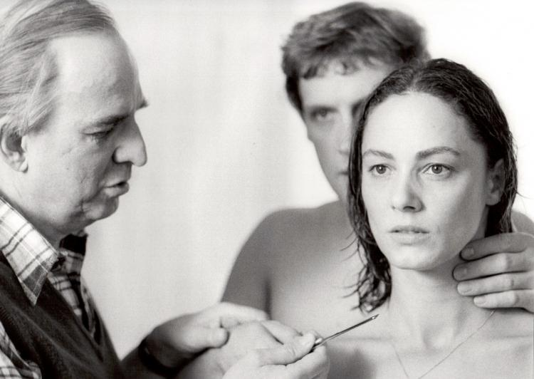 Bergman sets the dream scene with Katarina(Christine Buchegger) and Peter (Robert Atzorn) in Aus dem Leben der Marionetten (From the Life of the Marionettes, 1980).