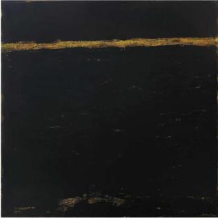 Ercole Monti_Mare nero 2010_olio su tela_150x150cm