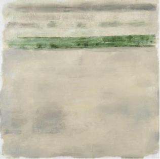 Ercole Monti_Sabbia e mare verde 2010_olio su tela_150x150cm