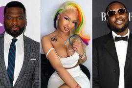 50 Cent & Meek Mill Troll 6ix9ine's Girlfriend Over Tattoo