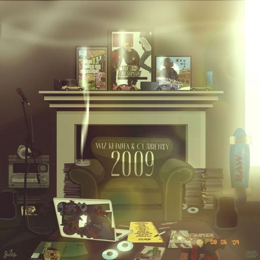"Stream Wiz Khalifa & Currensy's joint project ""2009."""