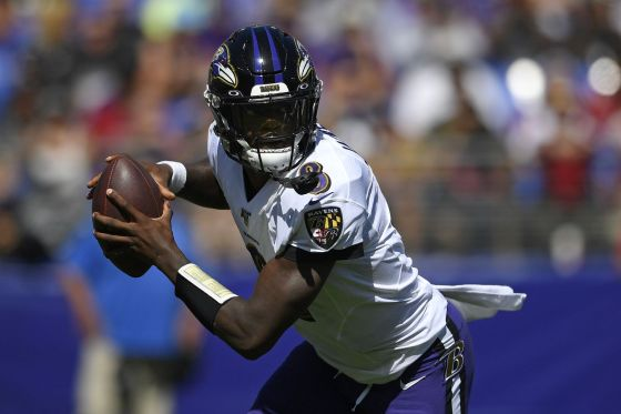 Lamar Jackson Matches Colin Kaepernick Record in Ravens Win