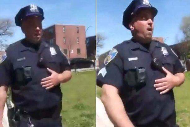 Footage Shows Baltimore Cop Purposely Coughing Near Residents