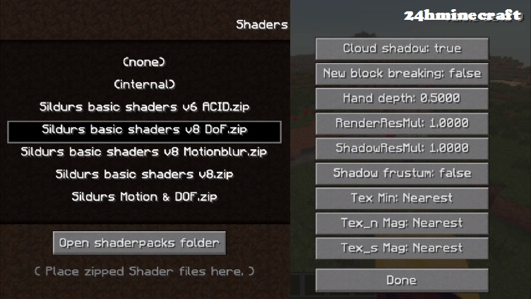 Minecraft Glsl Mod 1 6 4 Shaders