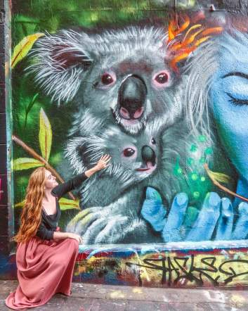 Melbourne graffiti street art