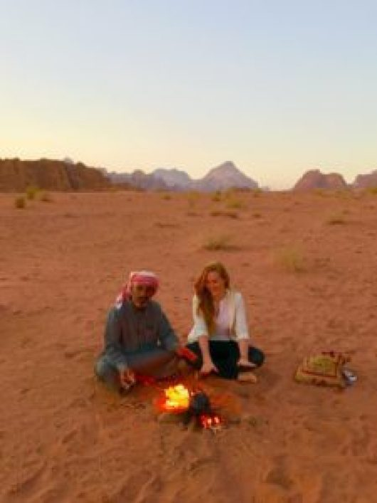 bedouin tea in wadi rum Jordantravelling solo around arabic countries as a western woman Middle East