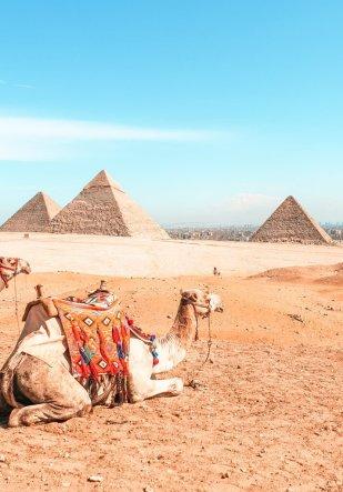 the pyramids of Giza Cairo Egypt