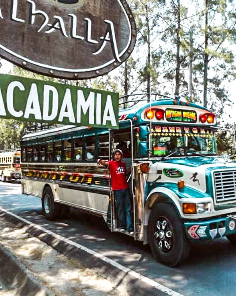 Valhalla Guatemala chicken bus