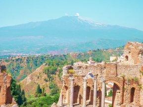 Taormina amphitheatre Sicily mount Etna