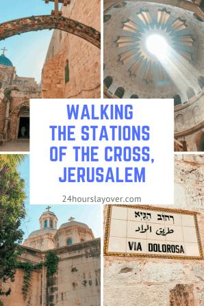 walking Via Dolorosa Jerusalem