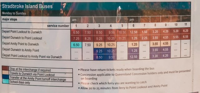 north Stradbroke island bus timetable