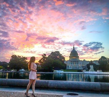 capitol building Washington DC sunrise