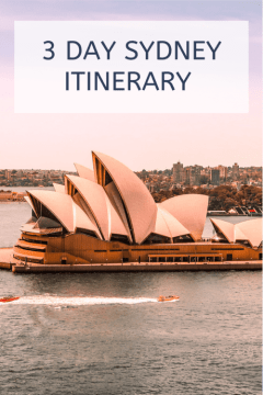 3 day Sydney itinerary