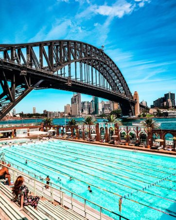 north Sydney olympic pool harbour bridge