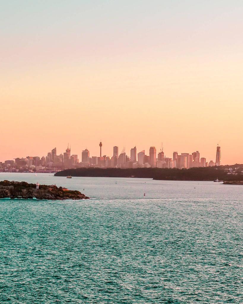 Sydney skyline north head