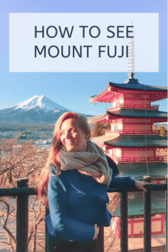 how to see Mount Fuji